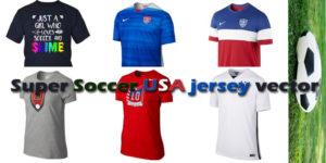 Slime Super Soccer USA jersey vector
