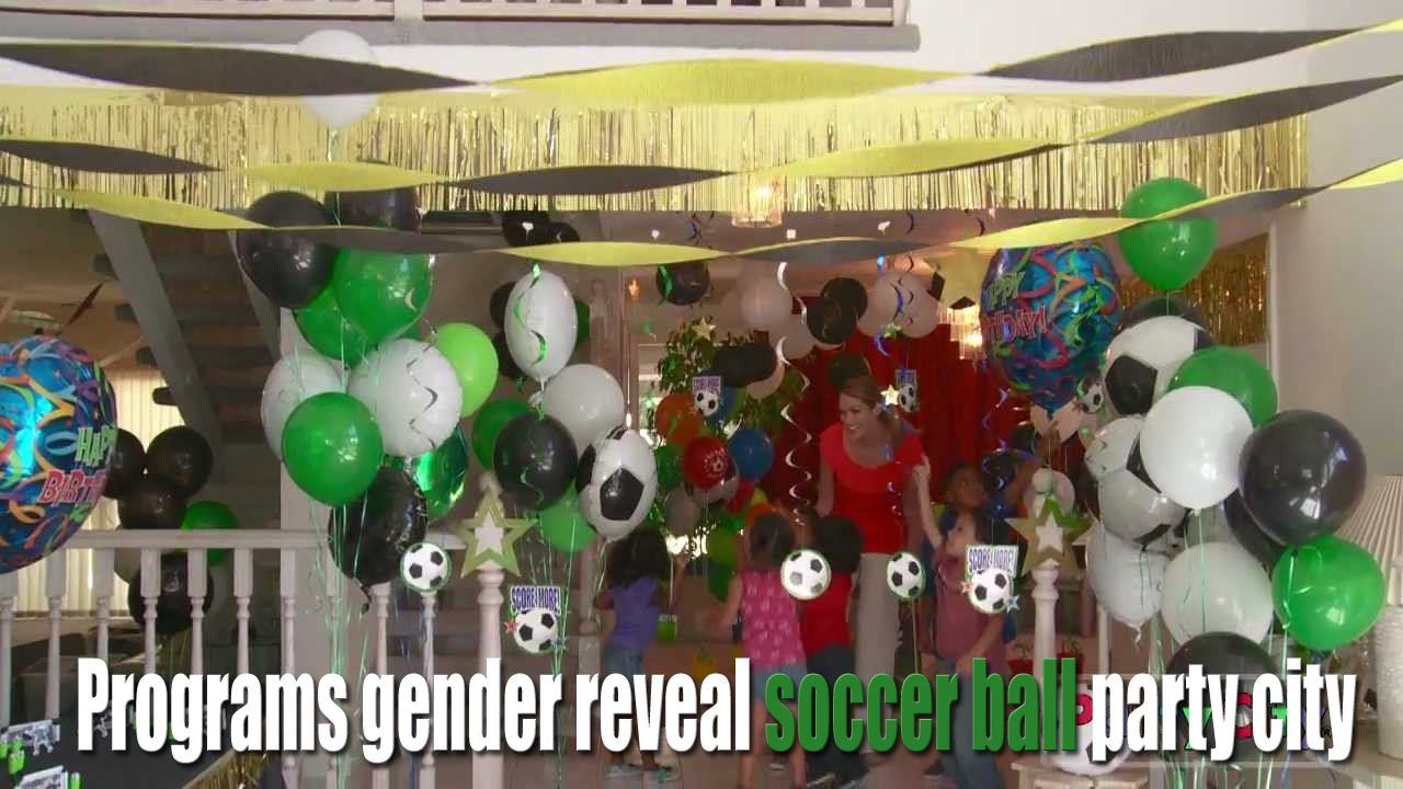 Programs gender reveal soccer ball party city