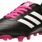 Adidas Little Ones Goletto VI J Firm Ground Soccer Cleats Black White Pink Youth