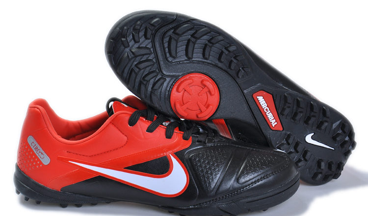 Indoor Soccer Footwear Black and Red Nike Soccer Cleats