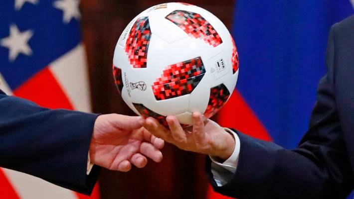 News Trump Throws Putin's Soccer Ball Gift To Melania