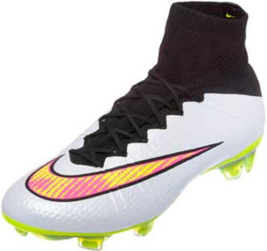 Shop Indoor Soccer Shoes & Cleats Nike Mercurial Vapor Superfly Indoor Soccer Shoes White Black