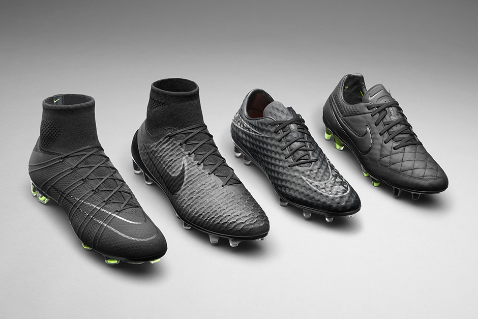 Soccer Cleats & Shoes All Black Nike High Top Soccer Cleats