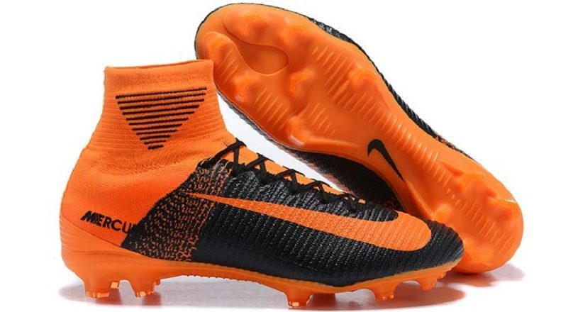 Soccer Nike Footwear Black And Orange Soccer Cleats