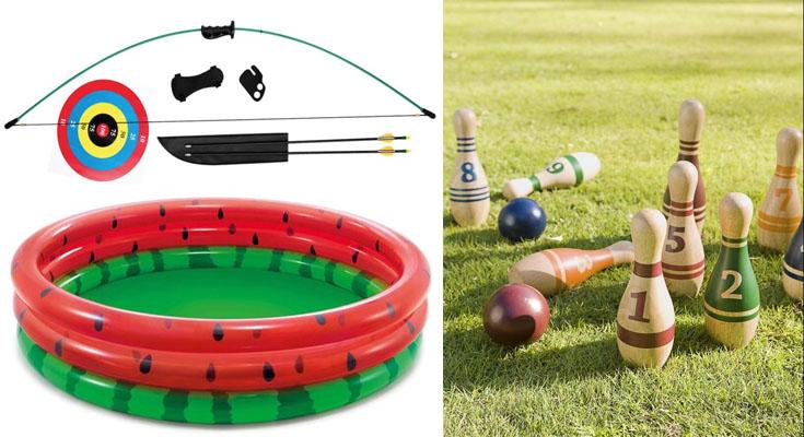 Summertime Outdoor Sports Equipment List